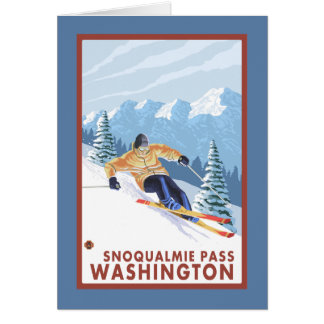 Downhhill Schnee-Skifahrer - Snoqualmie Durchlauf, Karte
