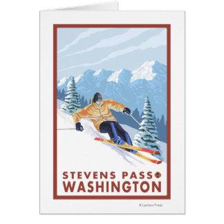 Downhhill Schnee-Skifahrer - Stevens-Durchlauf, Karte