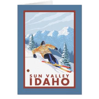 Downhhill Schnee-Skifahrer - Sun Valley, Idaho Karte