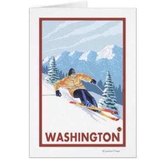 Downhhill Schnee-Skifahrer - Washington Karte