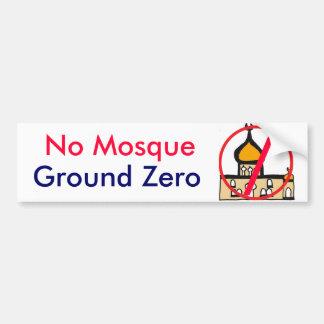 DP, kein Moscheen-GrundnullAutoaufkleber Autoaufkleber