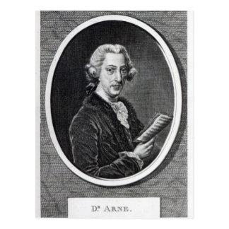 Dr. Arne, graviert für 'das universelle Postkarte