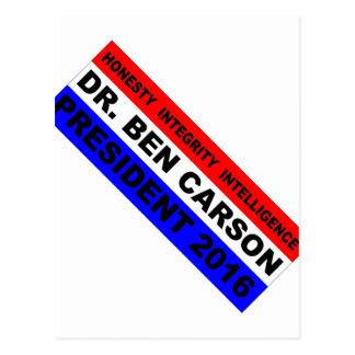 Dr. Ben Carson für Präsidenten 2016 Postkarte