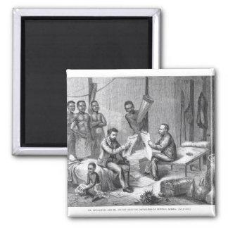Dr. David Livingstone (1813-73) und Herr Henry Quadratischer Magnet