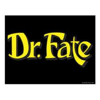 Dr. Fate Logo Postkarte