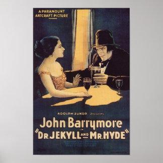 Dr. Jekyll und Film-Plakat Herr-Hyde Vintage Poster