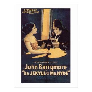 Dr. Jekyll und Herr Hyde Silent Horror Movie Postkarte