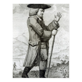 Dr. Johnson in seinem reisenden Kleid, 1786 Postkarte