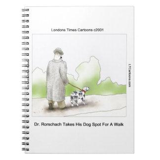 Dr. Rorschach Takes Dog Spot 4 ein Weg lustig Notizblock