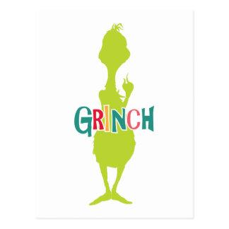 Dr. Seuss | das Grinch - grüne Silhouette Postkarte