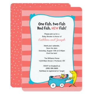 Dr. Seuss | ein Fisch - Mädchen-Babyparty 12,7 X 17,8 Cm Einladungskarte