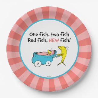 Dr. Seuss | ein Fisch - Mädchen-Babyparty Pappteller