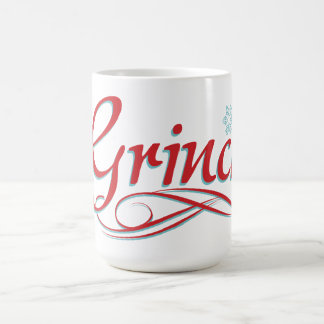 Dr. Seuss | Grinch - rotes und blaues Skript 2 Kaffeetasse