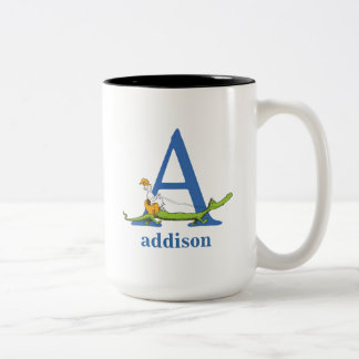Dr. Seusss ABCs: Beschriften Sie A - Blau | Zweifarbige Tasse