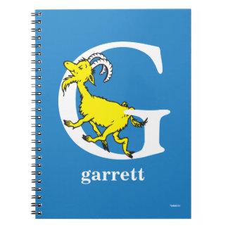 Dr. Seusss ABCs: Buchstabe G - Weiß   addiert Notizblock