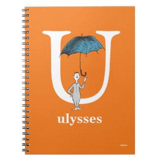 Dr. Seusss ABCs: Buchstabe U - Weiß | addiert Notizblock
