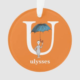 Dr. Seusss ABCs: Buchstabe U - Weiß | addiert Ornament