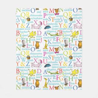Dr. Seusss ABCs Muster mit Wörtern Fleecedecke
