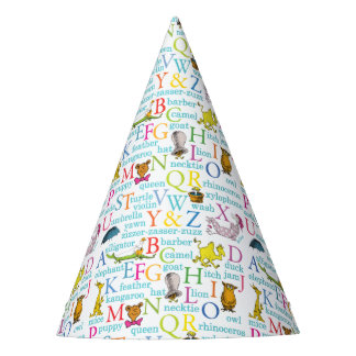 Dr. Seusss ABCs Muster mit Wörtern Partyhütchen