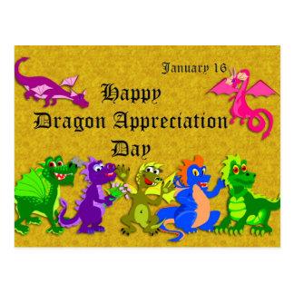 Drache-Anerkennungs-Tag am 16. Januar Postkarte