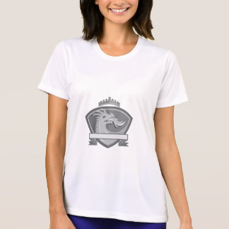 Drache-atmenfeuer-Kronen-Schild Retro T-Shirt