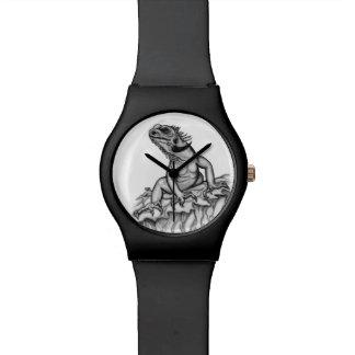 Drache auf dem Felsen Armbanduhr