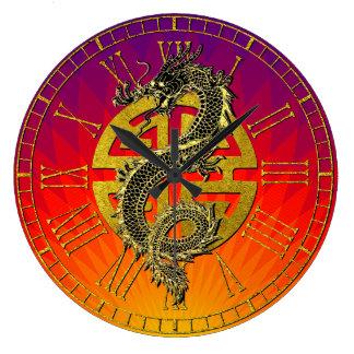 Drache-chinesische Große Wanduhr