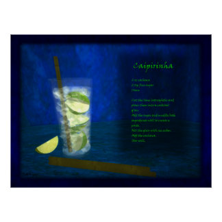 Drache-Cocktail-Bar: Caipirinha Poster