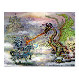 Drache des Ritter-n Postkarte