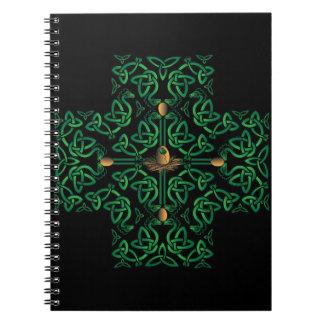 Drache-Ei-keltisches Kreuz Notizblock