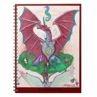 Drache-Einhorn-magisches Notizbuch Notizblock
