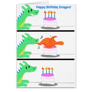 Drache-Geburtstagskarte lustig! Grußkarte