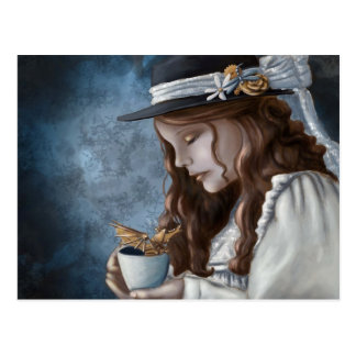 Drache gedämpfter Tee Postkarte