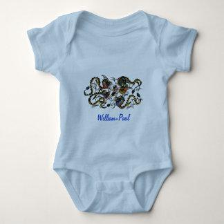 Drache-Kämpfer-kämpfende Drachen Baby Strampler