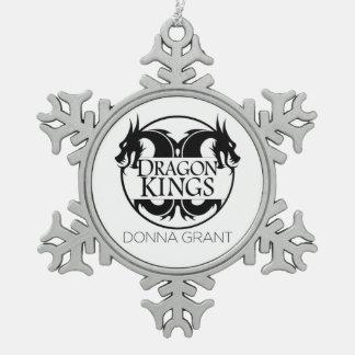 Drache-Königverzierung Schneeflocken Zinn-Ornament