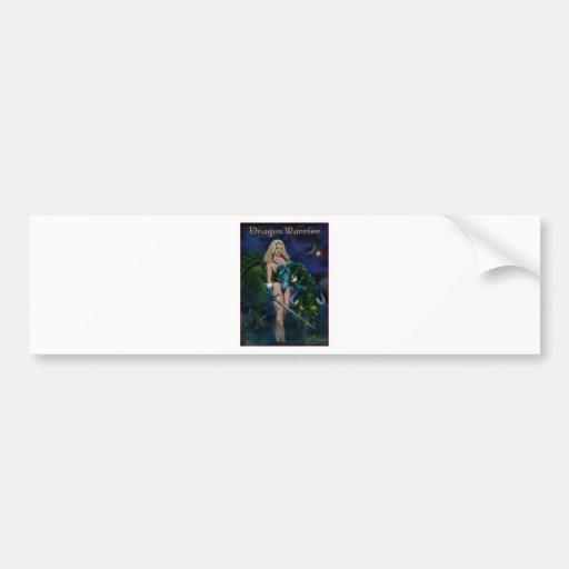 Drache-Krieger Auto Sticker