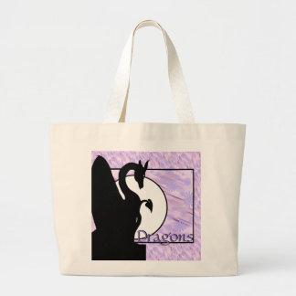 Drache-Mond I (Lavendel geblüht) Jumbo Stoffbeutel