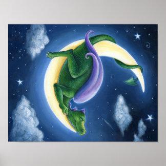Drache-Mond-Plakat Poster