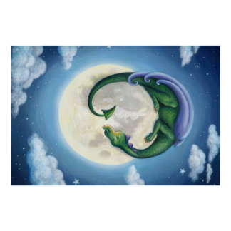 Drache-Mond träumt Plakat