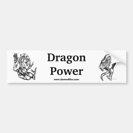 Drache-Power Auto Aufkleber