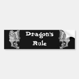 Drache-Regel Autoaufkleber