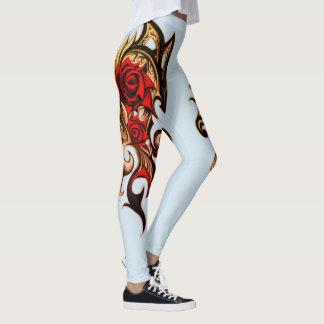 Drache-Rose des Goldes Leggings