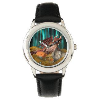 Drache-Schatz Uhr