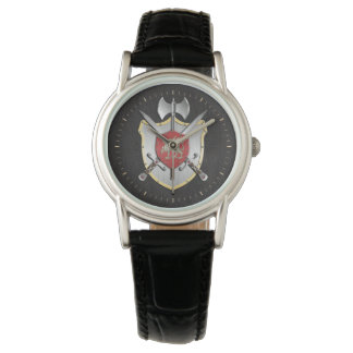 Drache Sigil Kampf-Wappen Armbanduhr