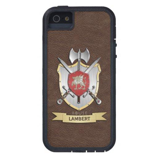 Drache Sigil Kampf-Wappen Brown iPhone 5 Etuis