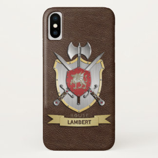 Drache Sigil Kampf-Wappen Brown iPhone X Hülle