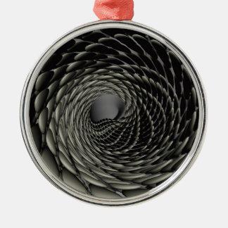 Drache stuft 2017 ein rundes silberfarbenes ornament