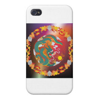 Drache-Tätowierung iPhone 4 Etui
