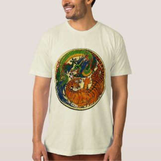 Drache/Tiger Yin Yang T-Shirt