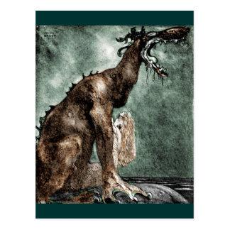 Drache und Meerjungfrau Postkarte